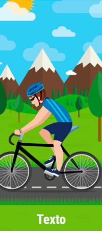 Ciclista Hombre