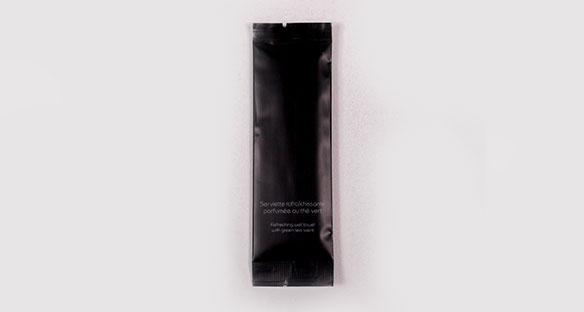 Viscosa/Poliester Desechable Negro