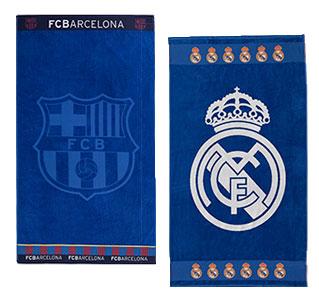 Toallas Licencias: Barcelona y Real Madrid