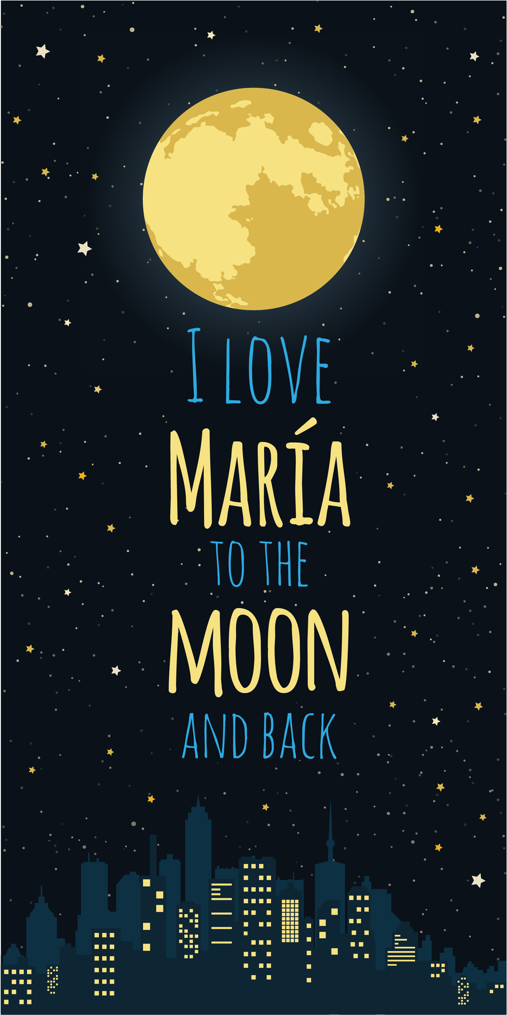 I love …. to the moon and back
