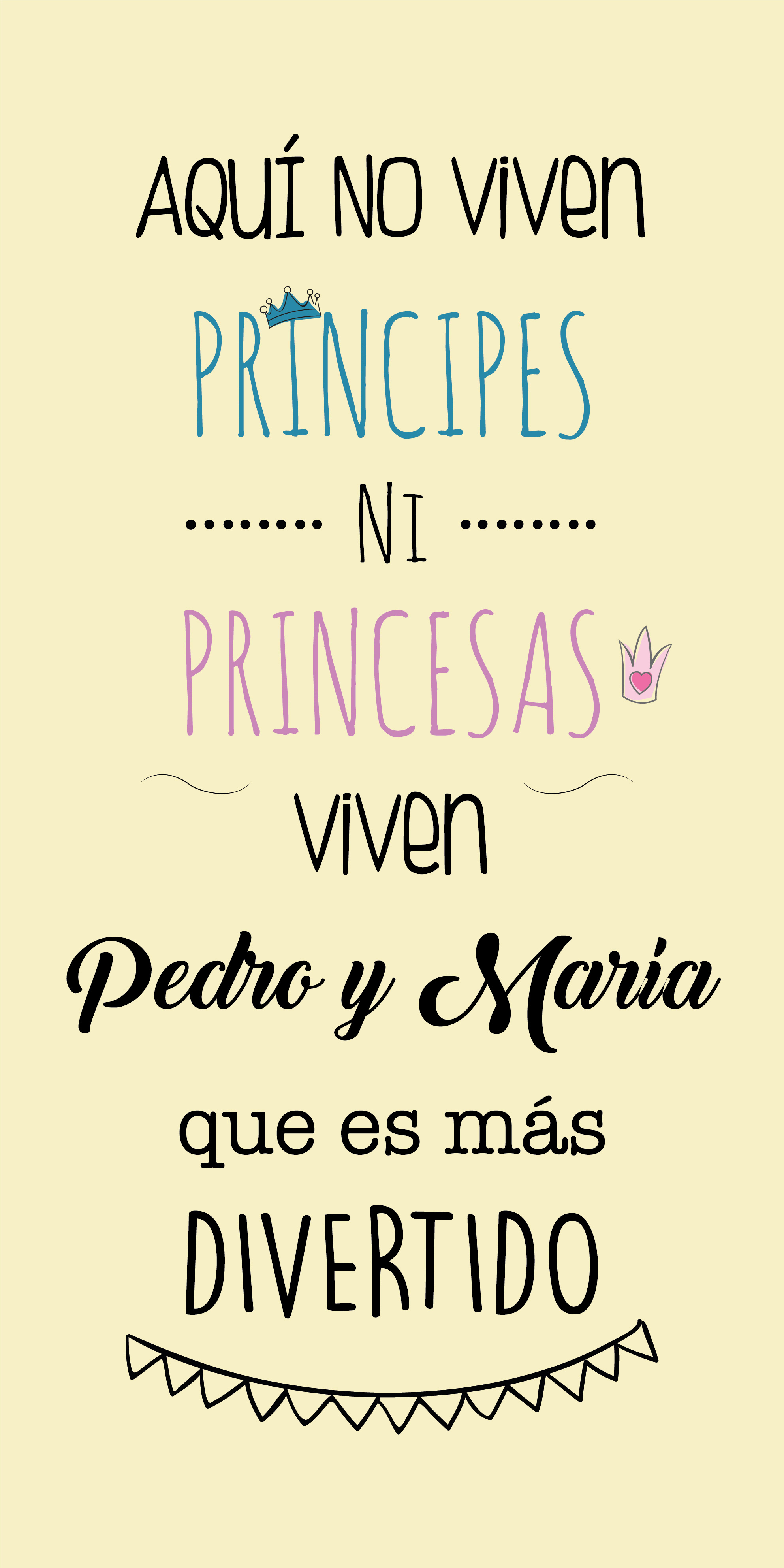 FRASE PRÍNCIPES Y PRINCESAS